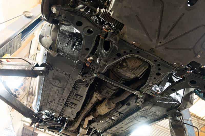 under car rusting